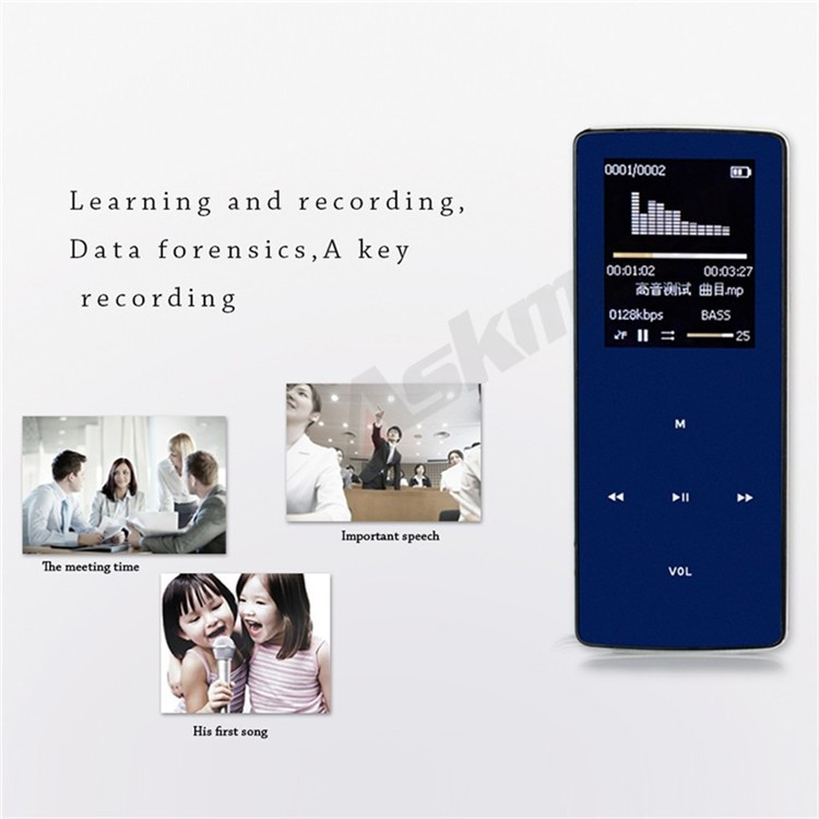 ONN W6 Rechargeable 8GB Bluetooth MP3 Player Mini Sport Mp3 HIFI Lossless Music Media Audio Player with 1.8 TFT Screen Fm Radio (15)
