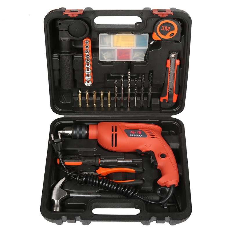 Impact Electric Drill Multi - Functional Combination Of Electric Screwdriver Toolbox Set Hardware Electrical Toolbox impact electric drill multi functional combination of electric screwdriver toolbox set hardware electrical toolbox