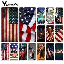 Yinuoda American flag USA High - end Protector โทรศัพท์สำหรับ Huawei P9 P10 Plus Mate9 10 Mate10 Lite P20 pro Honor10 View10(China)