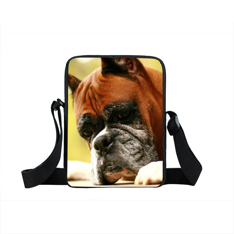 Dog Boxer / German Shepherd Mini Messenger Bag Children School Bags Bull Terrier Kid Book Bag Bulldog Animal Schoolbag Gift Bags