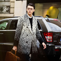 M-XL ! 2016 Autumn and winter thickening fashion overcoat male slim medium-long woolen trench male top outerwear Singer costumes