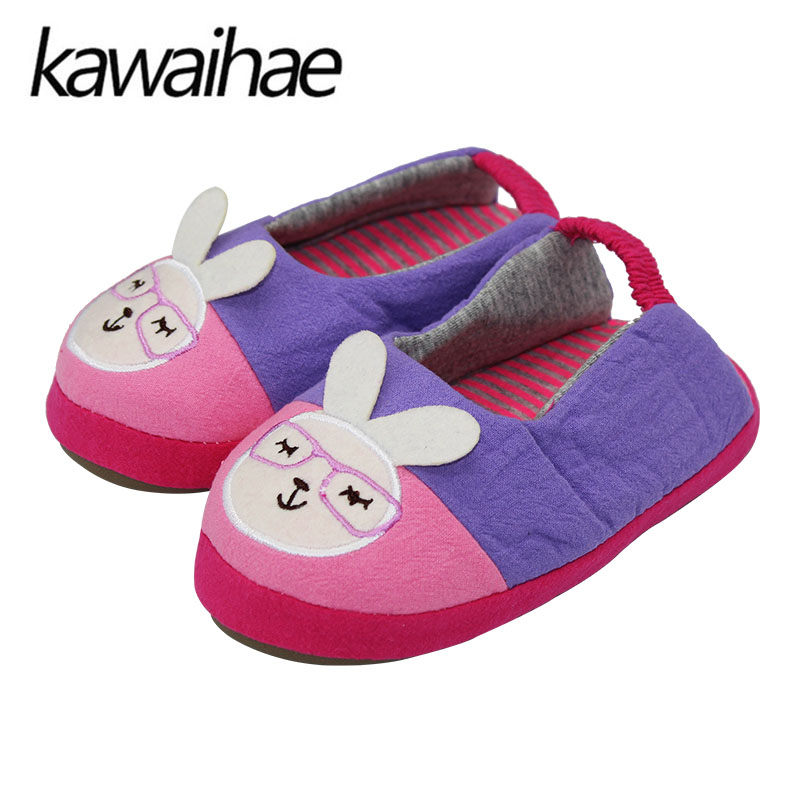 Cute Rubbit Kids Slippers Children Home Shoes Baby Shoes For Boys Girls Indoor Bedroom Kawaihae