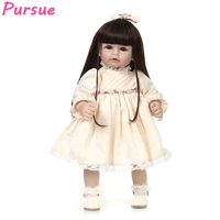 Pursue 20 inch 50cm Doll BJD American Girl Doll Long Black Hair Yellow bjd Princess Doll for Girls Boys Mini Baby Alive Doll BJD