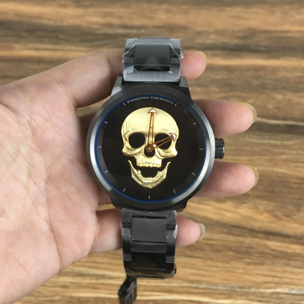 Mens Quartz Watches PAGANI DESIGN Personality Punk 3D Skull Retro Skeleton Men Watch Sports Clock Wristwatch Relogio Masculino цена