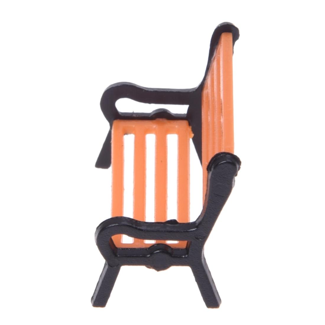 5pcs Model Train Platform Park Street Seat Bench Chair Settee 1:50 Mini Garden Ornament Miniature Park Bench