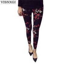 New 2017 Print Flower Leggings Leggins Plus Size Legins Guitar Plaid Thin Nine Pant Fashion Women Clothing aptitud Trousers K092