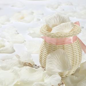 Image 4 - 500pcs משי רוז עלי כותרת חתונת קישוט מזויף פרח עלי כותרת קונפטי אירוסין יום נישואים מסיבת בית דקור אבזרים