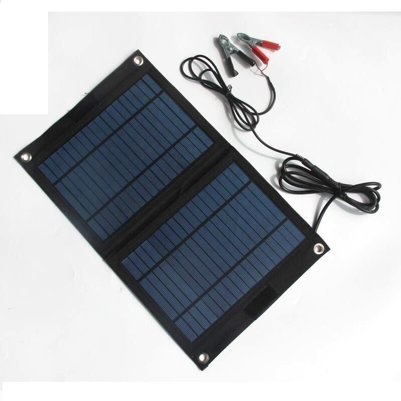 High Quality 18V/12V 12W Portable Solar Panel Charger For 12V Car Boat  Motor Battery Charger DIY Solar System Free Shipping