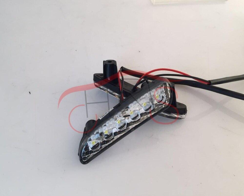 Автомобиль-Стайлинг светодиодные дневные Бег свет для Odyssey 2010 ~ 2013 Авто Туман светодиодные лампы ДРЛ Дневной свет Включите световой сигнал
