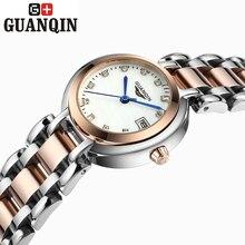 Бренд GUANQIN женские часы кварцевые часы женщины кварцевые часы старинные бизнес relogio feminino классический сапфир 17001