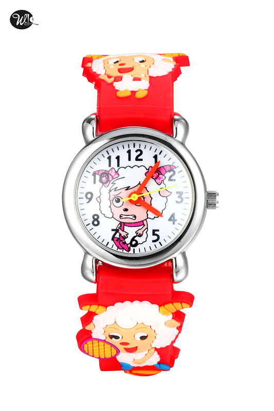 Children's Watch 3D Strap Cartoon Boy Girl Quartz Watch Pointer Electronic Waterproof Watch Child Gift Watch