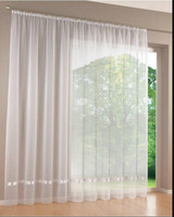 Quality White Voile Encryption Ribbon All Match Screens Curtains For Home Window Curtain Drapery Sheer Panels