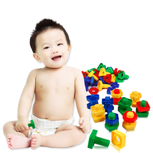 Image 2 - 3/5sets baby 3D Puzzles Kids Building puzzle Toys games For Children 3years Educational Toys Mind Build Screw nut set montessori