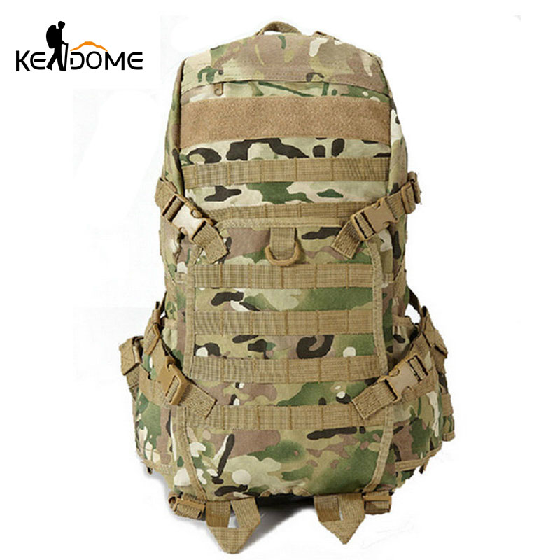 Outdoor Sports  Mountaineering Molle Backpack Men Tactical Military Camouflage Bag Traveling Camping Hiking  Rucksack XA330WD