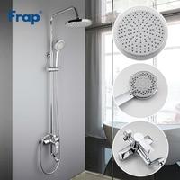 Frap bathroom shower faucet set bathtub faucets shower mixer tap Bath Shower taps waterfall shower head wall mixer torneiraF2418