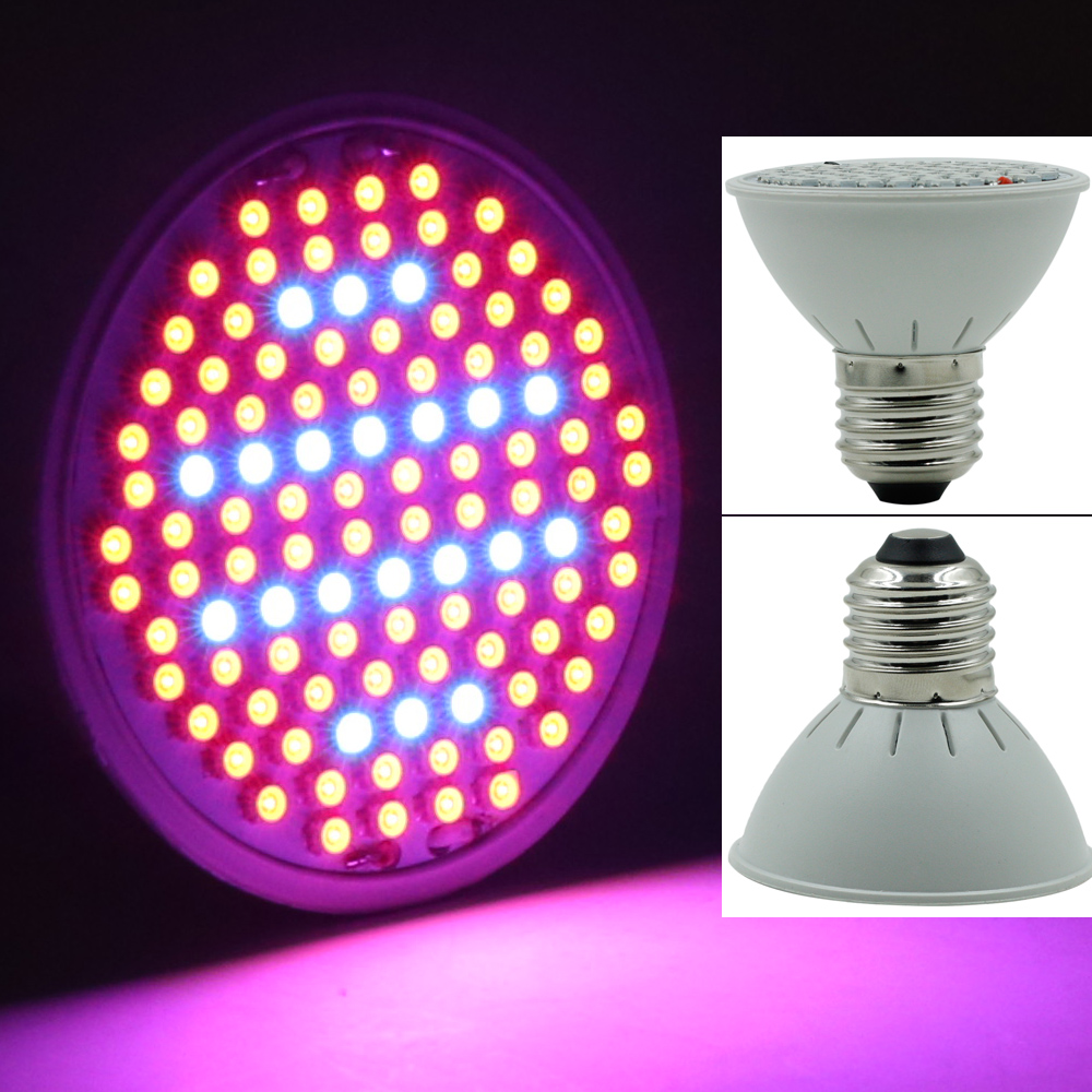 106 LEDs Grow Light E27 AC85-265V Full Spectrum Indoor Plant Lamp For Plants Vegs Hydroponic System Plant Light 290 led plant grow light e27 200 led growing lights bulb full spectrum indoor plant lamp for plants vegs hydroponic system