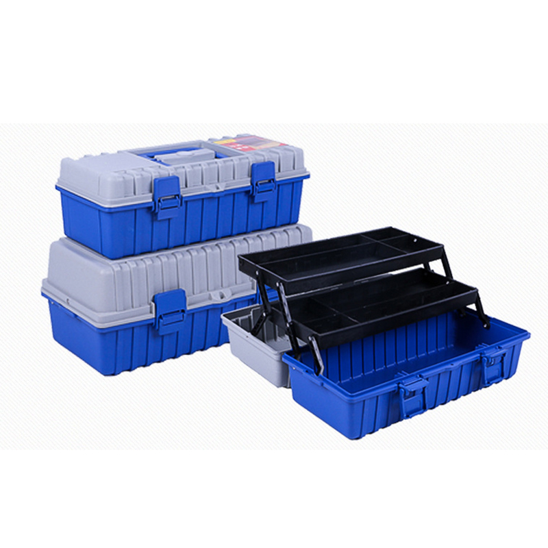 New Large Plastic Tool Box Two Three Layer Storage Box Hardware Toolbox Home Multi-function Car Repair Box Tool Container Case
