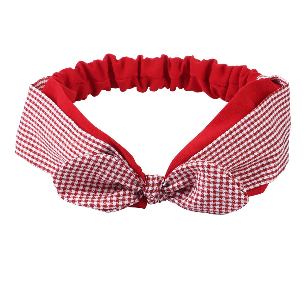 Apparel Accessories Have An Inquiring Mind Charm Plaid Head Wrap Headdress Bow Knotted Rabbit Ear Elastic Headbands For Women Bndanas Headwear Girls Hair Accessories Hb066