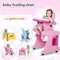 Duck child dining chairs baby chair multifunctional dining chair portable table combination baby dining chair pink blue