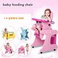 Sillas de comedor silla de bebé niño pato multifuncional combinación de mesa de comedor silla portátil silla de comedor de bebé de color rosa azul