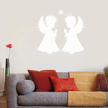 Baby Angel Wall Sticker Cute Kids Children Home Decoration Vinyl Art Removable Poster Mural Teenager Bedroom Nursery LY1477