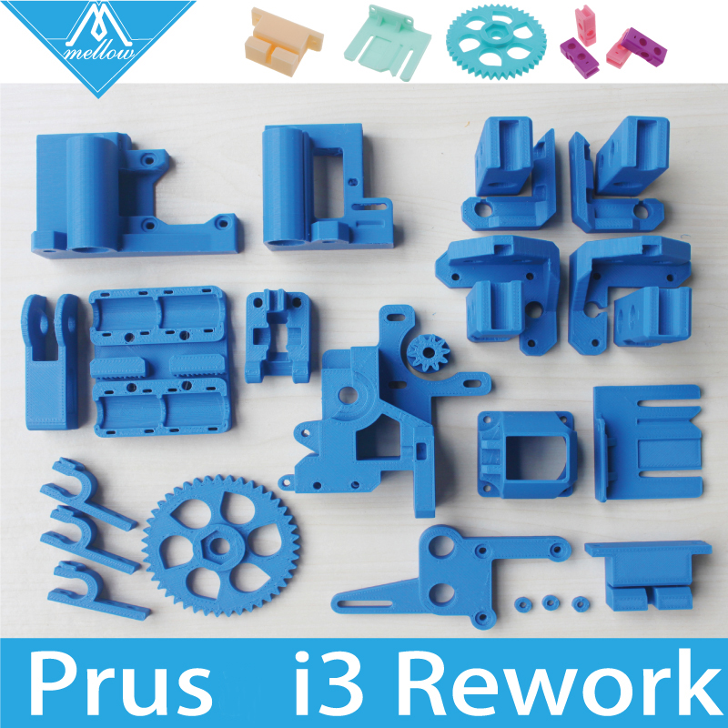Colorful Reprap i3 Rework 3D Printer PLA Required PLA Plastic Parts Set Printed Parts Kit Mendel i3 Free Shipping new 26pcs abs printed parts kit for reprap prusa i3 rework black pla 3d printer diy durable quality