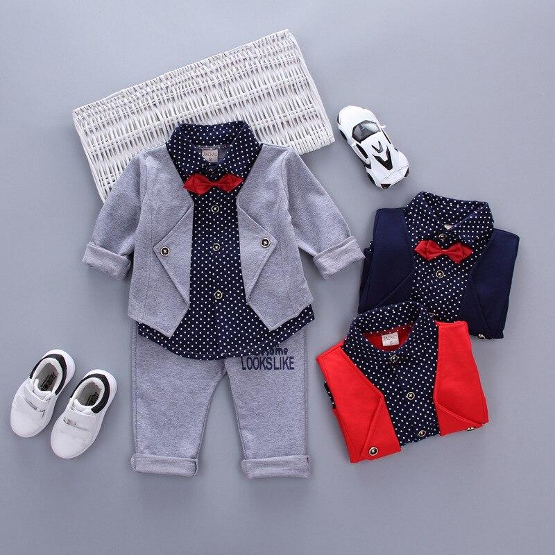 Hot Sales Infant Baby Boys Sätter Röd Plaid Långärmad Skjorta + - Babykläder - Foto 2