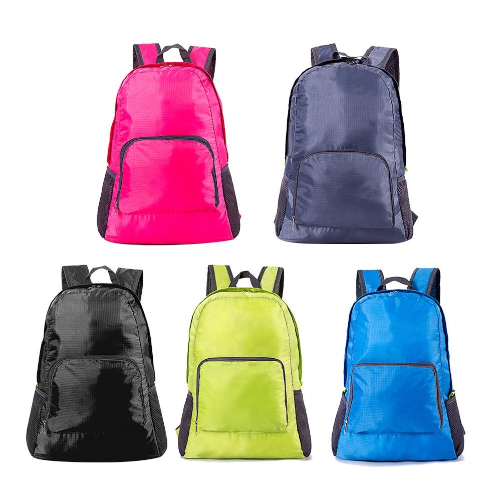 High Quality 5 Color Lightweight Nylon Foldable Backpack Waterproof Backpack Portable Pack For Women Men Travel Shoulder Bags