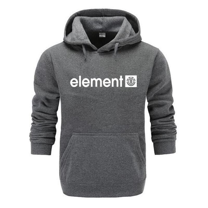 Neue 2018 Herbst Winter Marke Mens Hoodies Sweatshirts Männer Hohe Qualität ELEMENT Brief Druck Langarm Mode Mens Hoodies