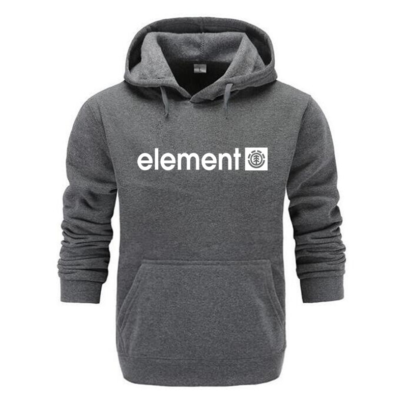 Autumn Winter Brand Mens Hoodies Sweatshirts Men High Quality ELEMENT Letter Printing Long Sleeve Fashion Mens Hoodies 8