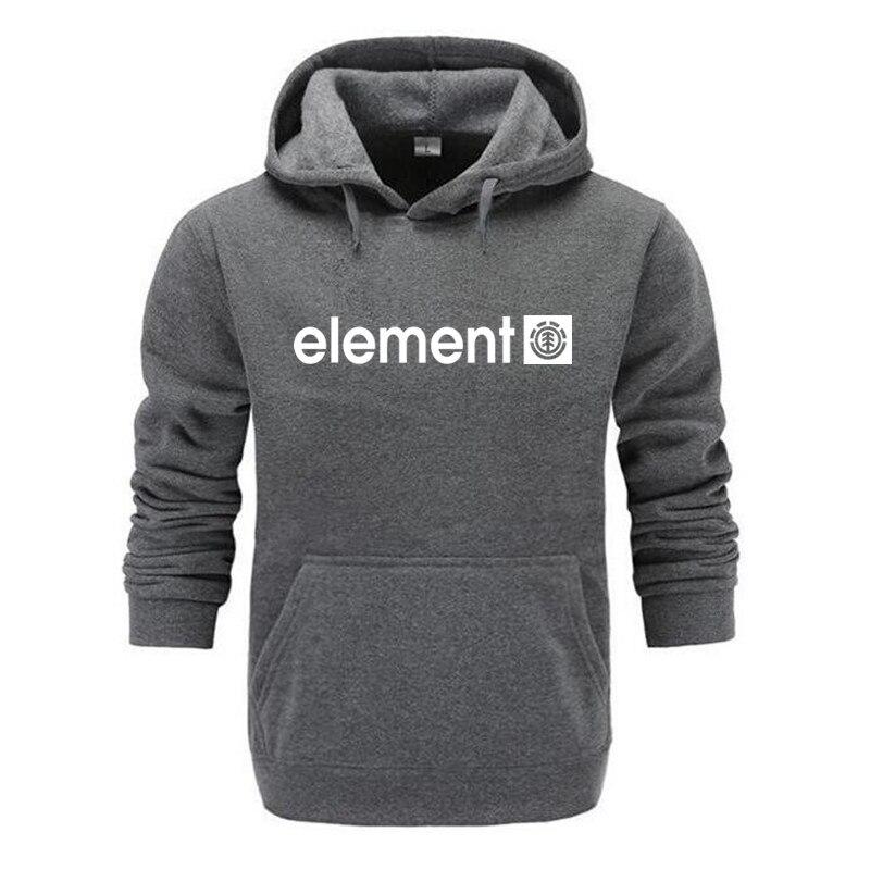 New 2018 Autumn Winter Brand Mens Hoodies Sweatshirts Men High Quality ELEMENT Letter Printing Long Sleeve Fashion Mens Hoodies