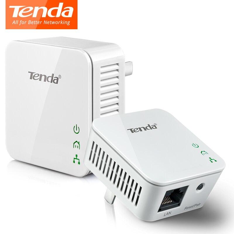 1 Paar Tenda P202 Mini 200 Mbps Powerline Ethernet Adapter, Plc Adapter, Kompatibel Mit Wireless Wifi Router, Iptv, Stecker Und Spielen