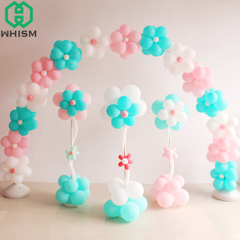 Whism foil balloons column stand kit plastic balloon arch for Balloon decoration kit