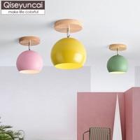 Qiseyuncai Nordic Eenvoudige Macarons Entry LED plafond lampen Gangen Gangpaden Balkon Trappen Ingang Zalen lampen gratis verzending
