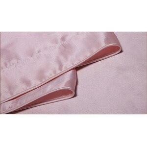 Image 3 - الحرير الفراش مجموعة 3 قطع 19 ملليمتر سلس جديد 100% التوت الحرير لحاف غطاء أكسفورد المخدة متعدد الألوان متعددة حجم ls030019006