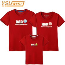 Family T-shirt Dad Mom Baby Matching Outfits Clothes Baby Mother Father Son Daughter Family Look Couple T Shirt Tops Costume(China)
