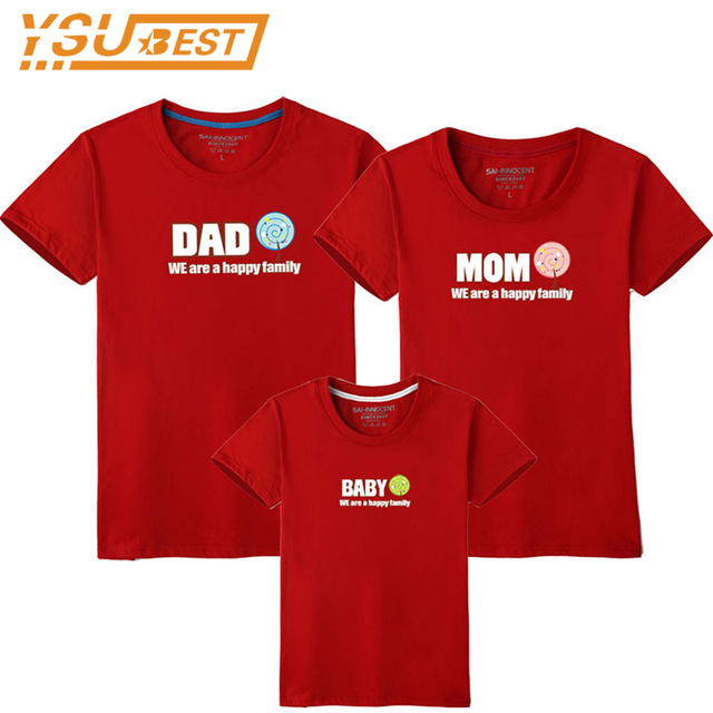 921c66f33 Family T-shirt Dad Mom Baby Matching Outfits Clothes Baby Mother Father Son  Daughter Family Look Couple T Shirt Tops Costume