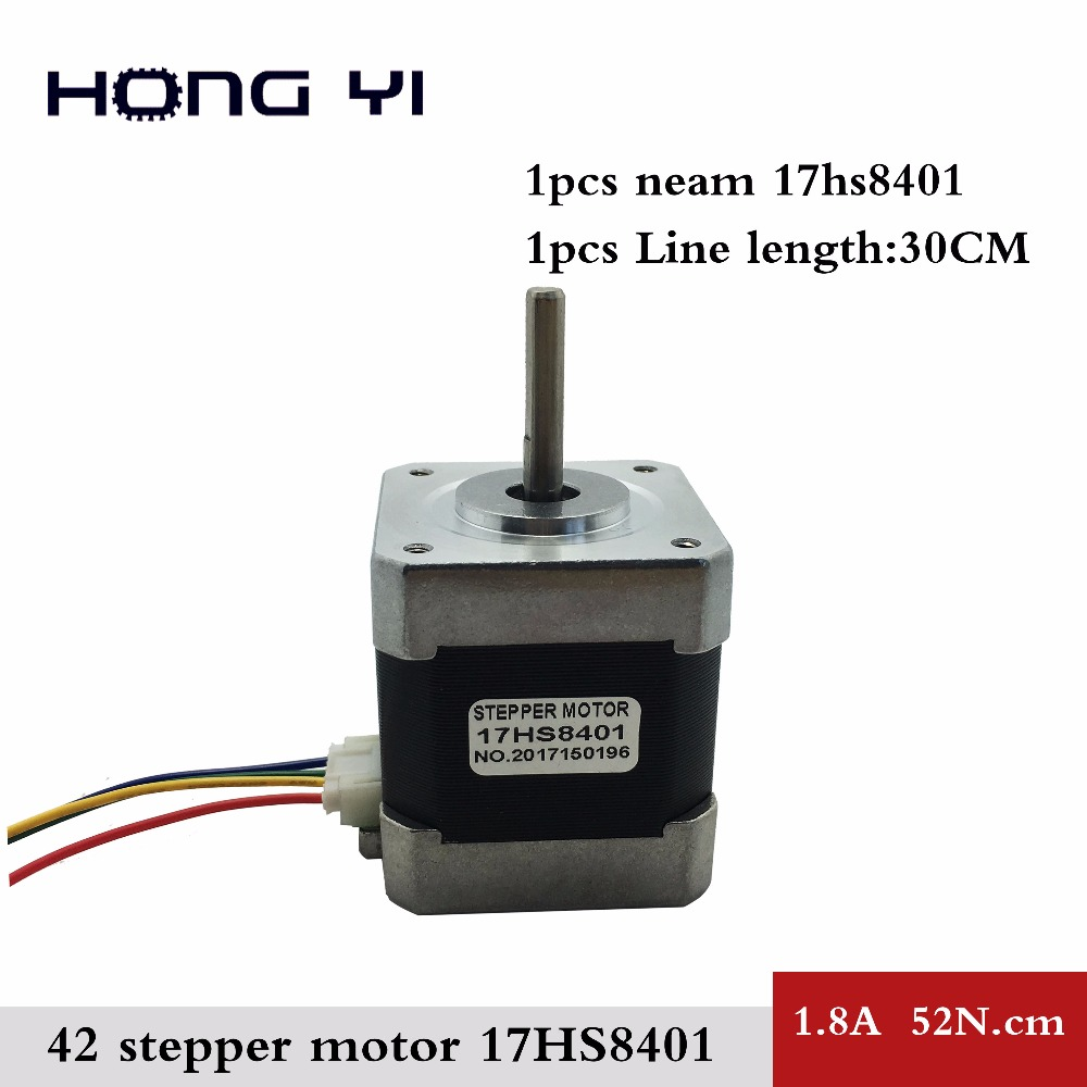 1 PCS / lot 4-lead Nema 17 Stepper Motor 42 motor 17HS8401 1.8A CE ROSH ISO CNC Laser and 3D printer