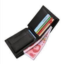 Модные мужские кошельки 2 цветов короткий черный клатч с кармашком