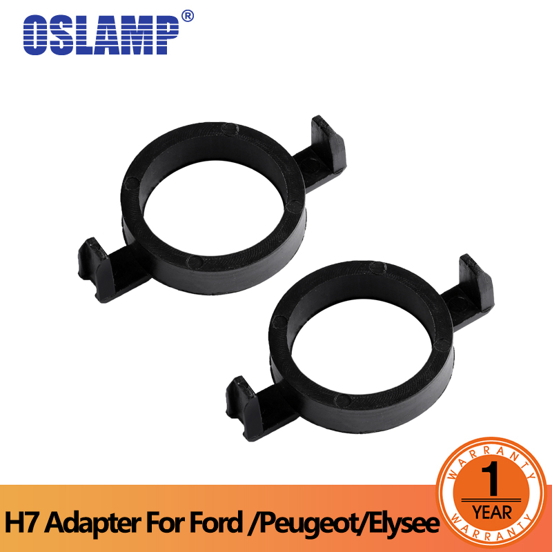 Oslamp Special H7 Headlamp Clip Retainer Sockets H7 LED kit Headlights Bulb Base Holder Adapters for Ford Mondeo Peugeot Elysee
