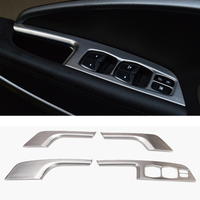 4 Pcs Set Car Styling Interior Door Window Lift Switch Panel Decoration Cover For HYUNDAI IX45