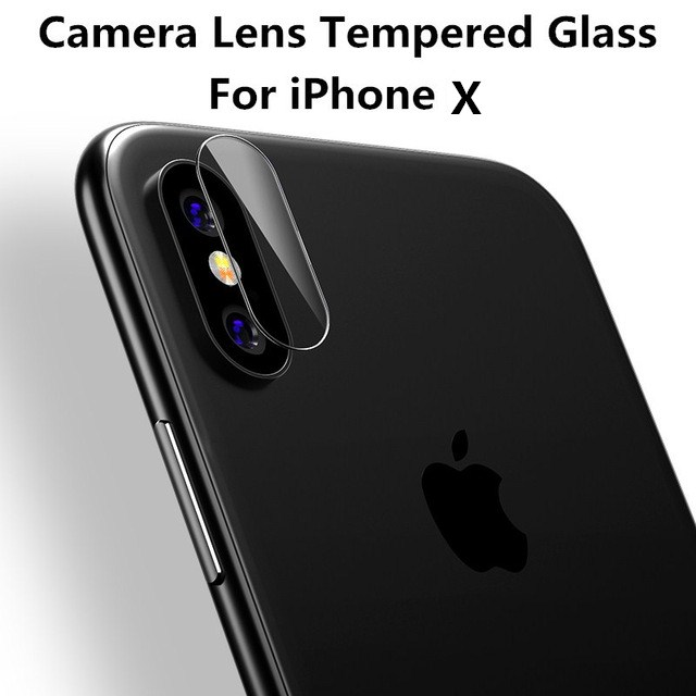 premium selection 2cf7d 04193 US $3.5 15% OFF|2PCS For iPhone X Camera Lens Screen Protector for iPhone X  iPhoneX Camera Tempered Glass Back Camera Lens Protective Film-in Phone ...
