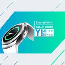 Y1 Elegante Reloj Redondo Nano Tarjeta SIM TF Con Whatsapp Facebook Negocio de fitness Smartwatch Para Android IOS
