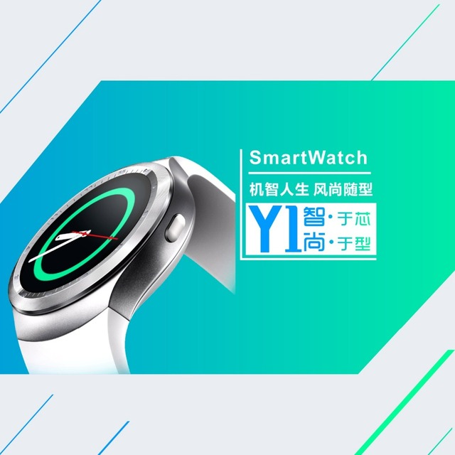 bfc5dbab7b5 Y1 Smart Watch Round Nano SIM TF Card With Whatsapp Facebook fitness  Business Smartwatch For IOS Android