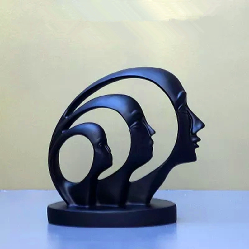 European Style Abstraction Human-face Creative Sculpture Colophony Crafts Home Furnishing Articles G1765European Style Abstraction Human-face Creative Sculpture Colophony Crafts Home Furnishing Articles G1765