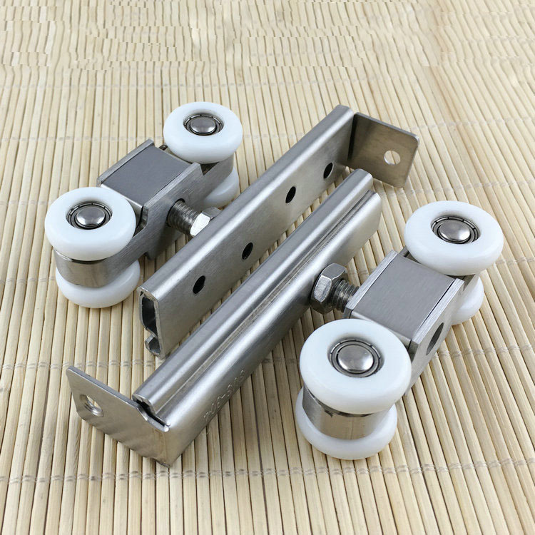 free shipping door roller Side mounted sliding door crane pulley wooden door track slide pulley hanging rail household hardware