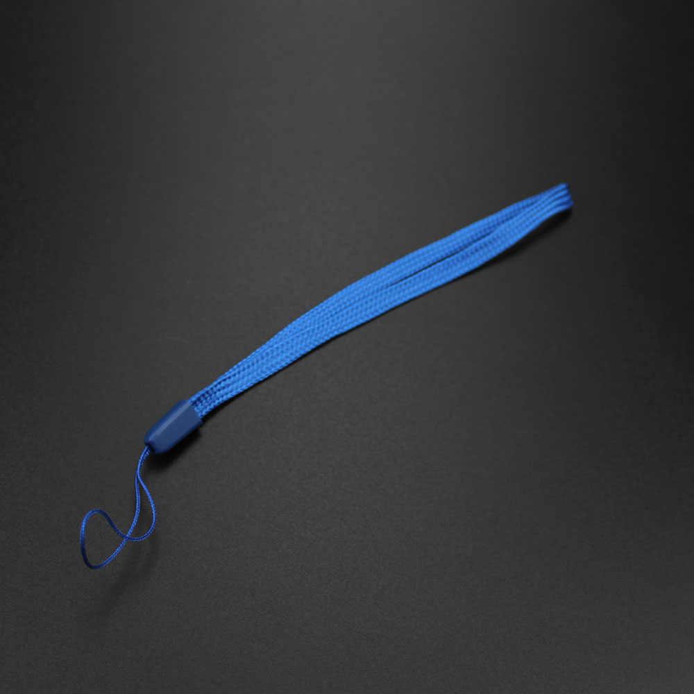 10x قصيرة الملونة اليد شريط الرسغ حزام ل Mp3 4 محرك فلاش usb مفتاح المفاتيح ID شارة حامل الهاتف المحمول الحبل 18.5 سنتيمتر