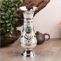 Europe H25CM modern vase home decoration vases alloy metal flowers vase vase wedding table HP013