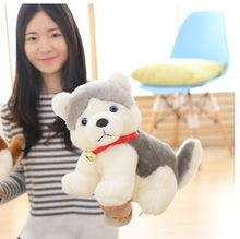 middle plush dog toy cute stuffed gray Pomeranian dog doll gift about 38cm