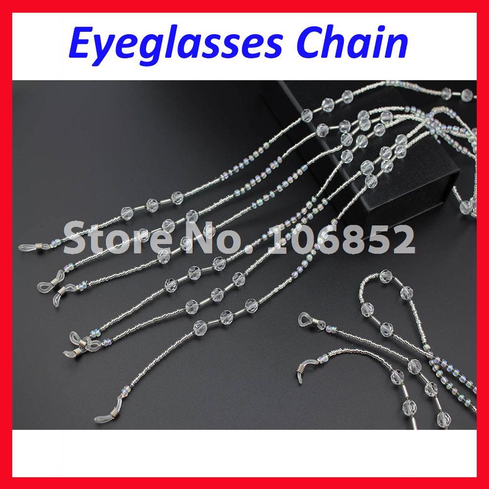 e692fc8ebe Détail Livraison Gratuite DH012 Clair perle perlée lunettes de soleil  lunettes de lecture lunettes cordon pour lunettes courroie de cou chian  chaîne